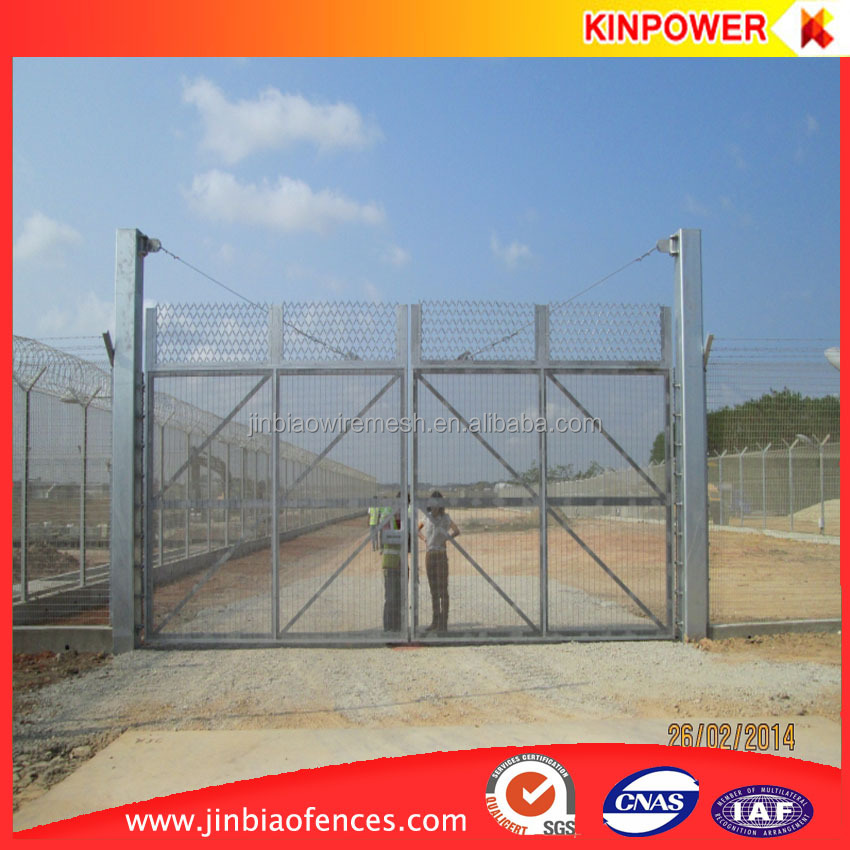 Airport Security Fence top Barbed Wire System