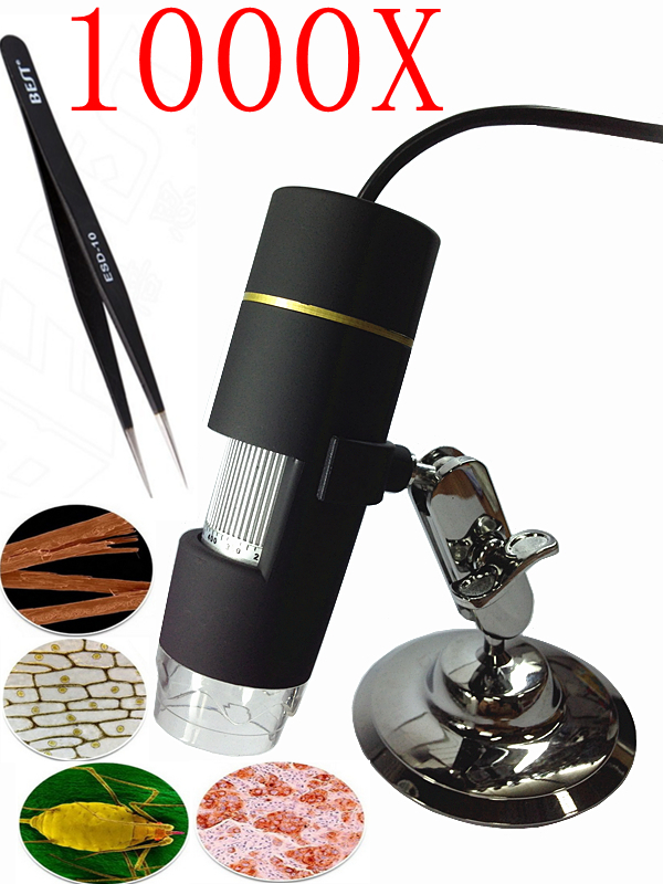 Free Shipping 1000x Usb Digital Microscope 8 Led Endoscope With