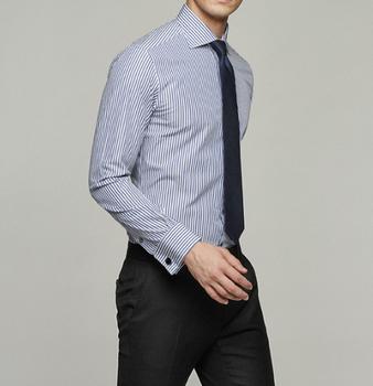 c53cbd08c3 De manga larga de puño francés a medida vestido de camisa de los hombres de  traje