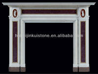 Marble outdoor gas fireplace