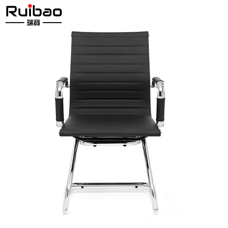 Modern Computer Ergonomic PU Leather No Wheels Executive Meeting Office Chair from ANJI CHINA RUIBAO Furniture