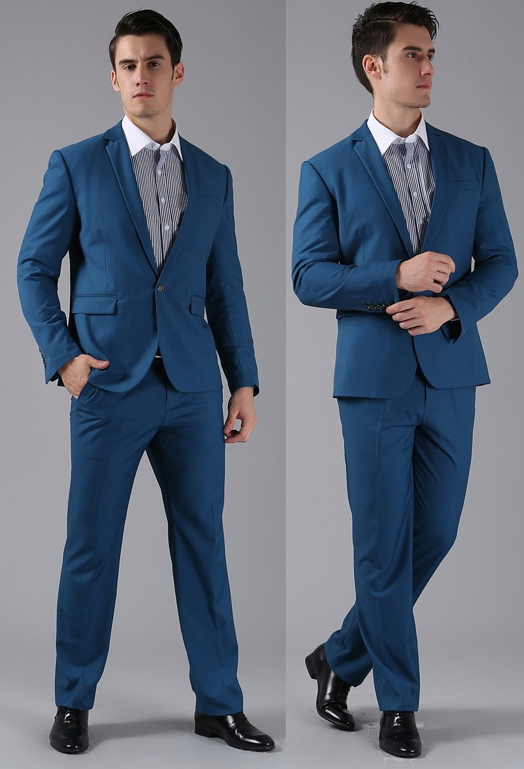 (Kurtki + Spodnie) 2016 Nowych Mężczyzna Garnitury Slim Fit Niestandardowe Garnitury Smokingi Marka Moda Bridegroon Biznes Suknia Ślubna Blazer H0285 62