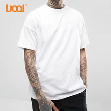 China Cheap Oem Short Sleeve White Blank 50% Cotton 50% Polyester T Shirt
