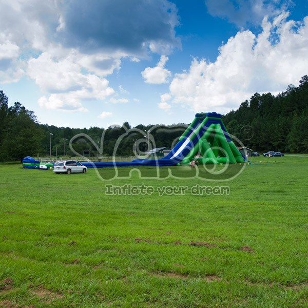 The world largest inflatable water slide for beach