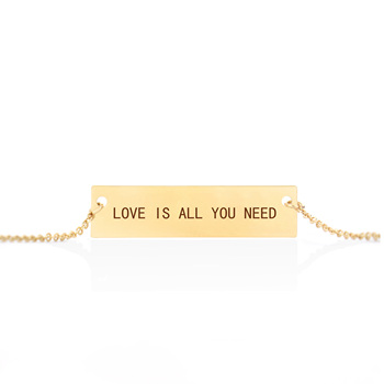 "Women's Letters Necklace ""Love Is All You Need"" Custom Necklace For Girlfriend Valentine's Day New Year Gifts"