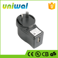 mobile phone accessories charger, 10w wall 5v 2a ac dc usb power adapters with SAA certificate