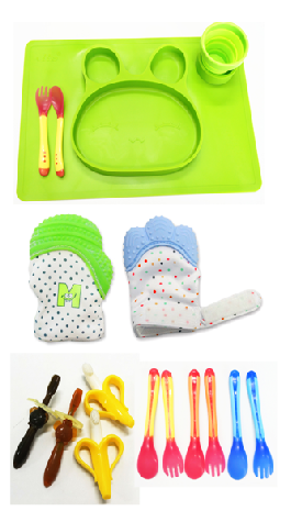 Wholesale promotional gift waterproof silicone soft baby bibs infant