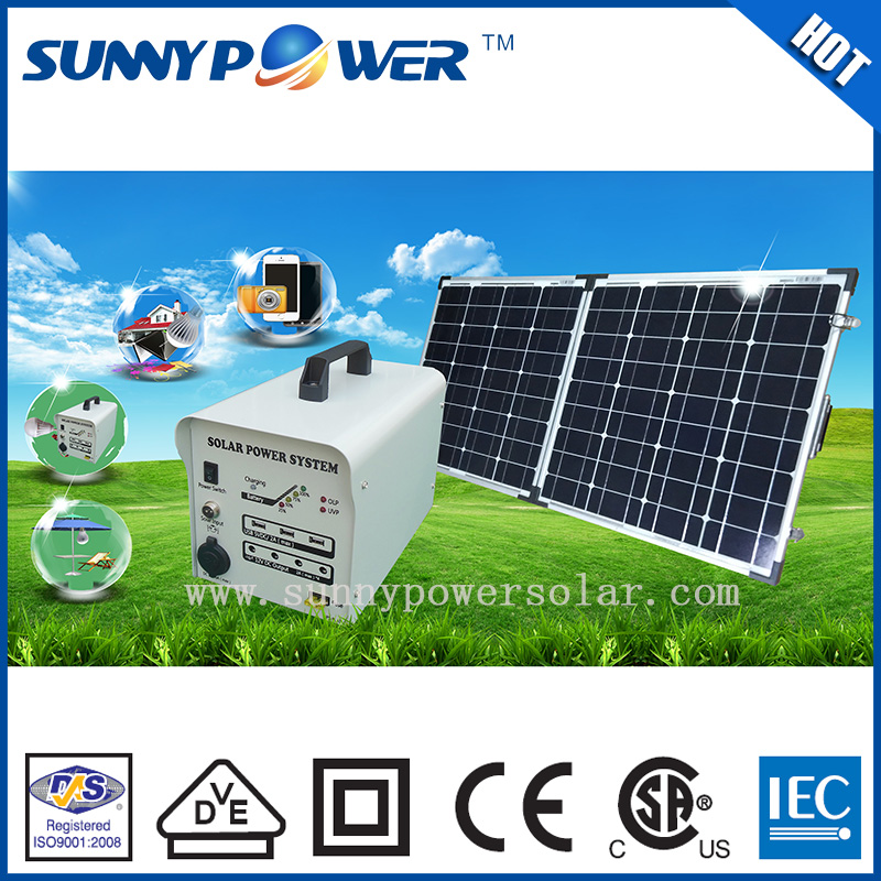 DC output 100w lighting and home solar electricity generation system with mobile charger