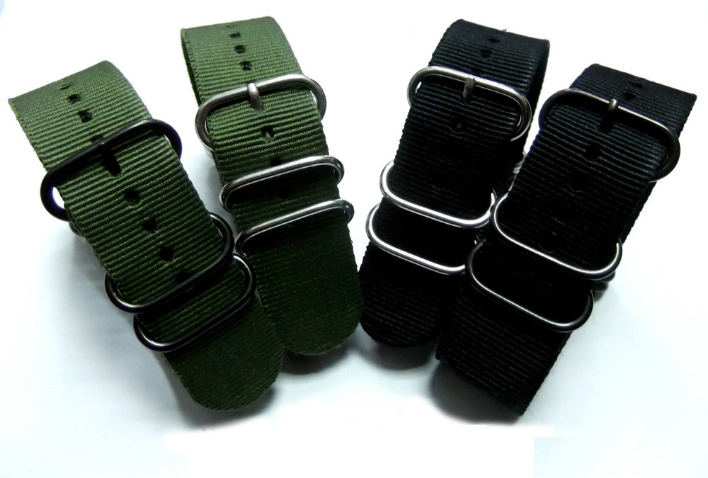 High Quality NATO Nylon Watch Strap 20mm Black Army Green Pin Buckle G10 Waterproof Military Nylon Watchbands Accessories