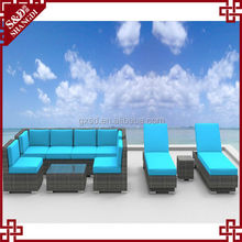 S&D Popular designed UV-resistant Modern Comfortable Outdoor rattan sofa