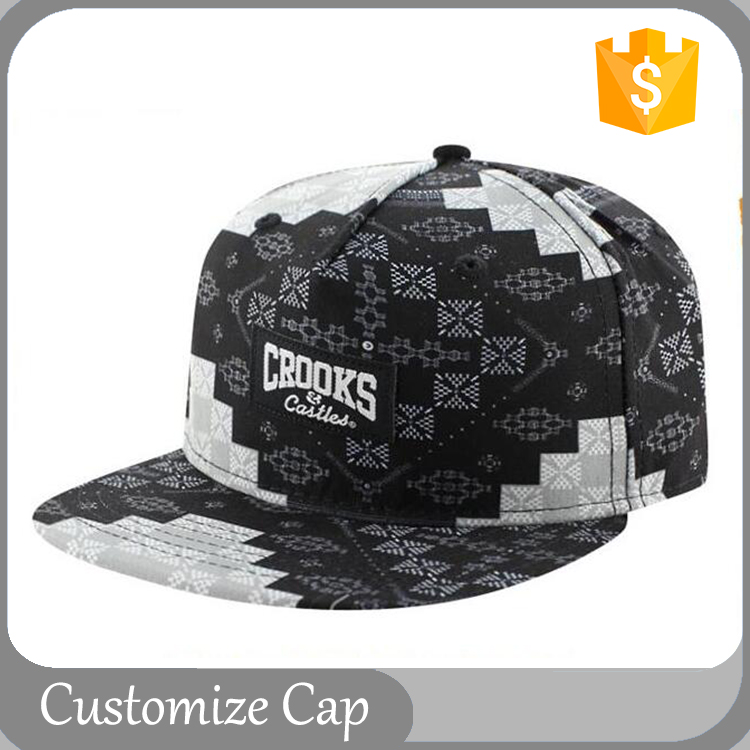 Hot Sale Custom Design Hat Flat Bill Leather Patch Snap Back Sublimation Snapback Hats Cap