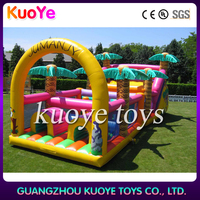 Inflatable Bounce House Tunnel Obstacle Course,Moonwalk Jumper Bouncer Slide