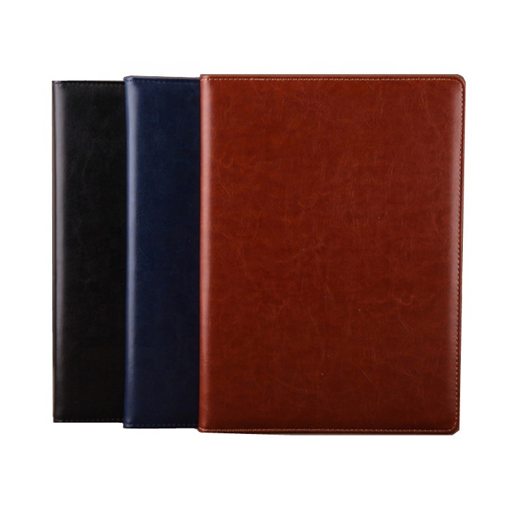 Hot sale eco friendly pu leather cover debossed logo a5 planner journal diary notebook