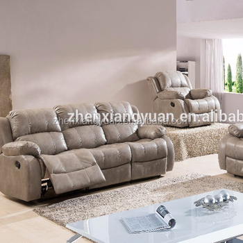 2019 Living Room Products Modern Leather Air Fabric Gray Color