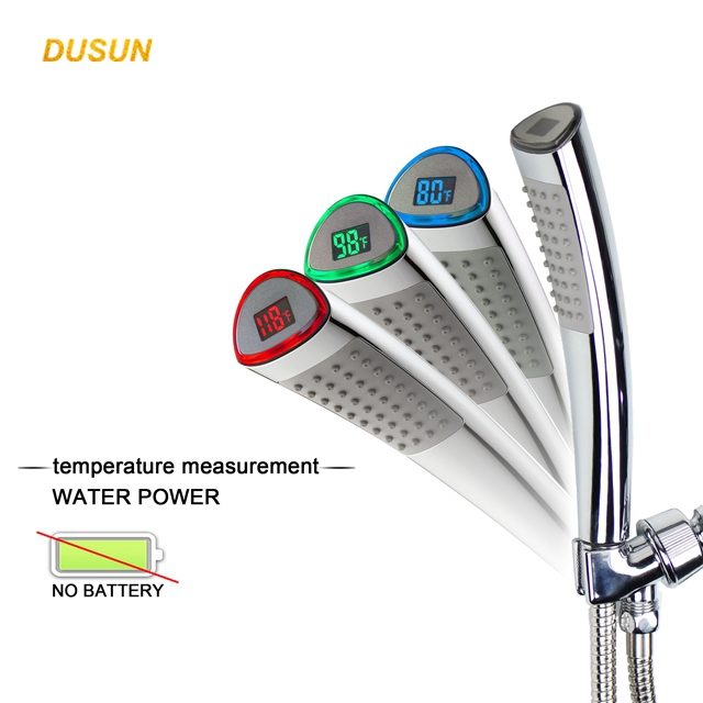 LED Digital Handheld Shower Head With Temperature Display Toto Shower Head