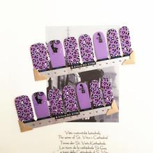 Black purple Catlike India Nail Arts Nail Sticker Waterproof Nail Decal Sticker Gel Polish French Manicure