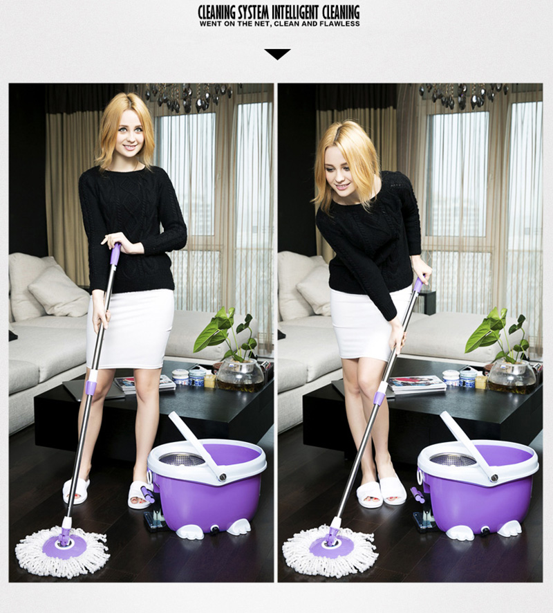 Drag Double-driven Rotary MopBucket Mopu Cloth Hand-pressure Drying Mop Plastic Covers Dust Cap Spray MopCleaning Mop