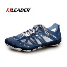 Aleader 2015 Mens Sandals Summer Breathable Shoes Casual Mens Shoes Beach Sandal Sport Water Fishing Shoes Zapatos masculino