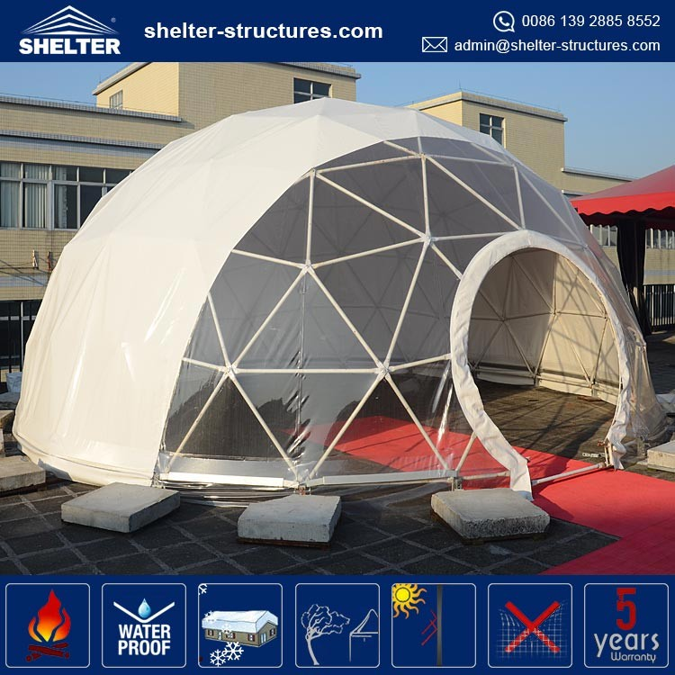 Steel Dome Homes: Geodestic Large 20m Diameter Steel Tube Dome Tent For