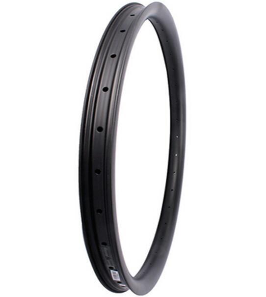 Hookless 27.5er AM carbon mtb bike rim,30mm width,20mm deep tubeless compatible