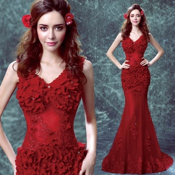 7b2e887fcb79 Sexy Evening Dress Long Fish Cut Floral Lace Applique Robe Soiree Evening  Gown