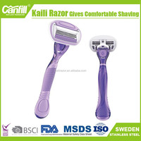 Lastest lady four blade razor We need distributors