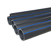 Underground 250mm 315mm high density pe plastic tube black water supply and irrigation hdpe pipe
