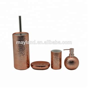 Punkte 4 Stucke Keramik Bad Rose Vergoldung Lotion Pumpe Seife