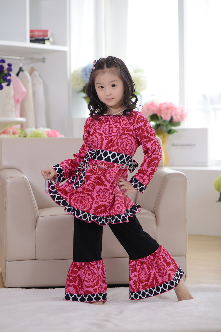 YiWu Fabulous Children Clothing Hot Pink Print Valentine's ... - photo#20