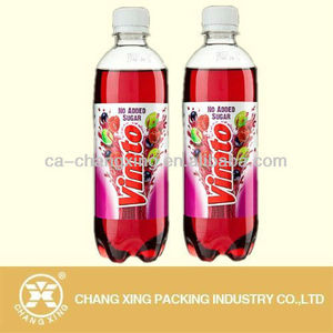 PVC label/beverages plastic bottle labels