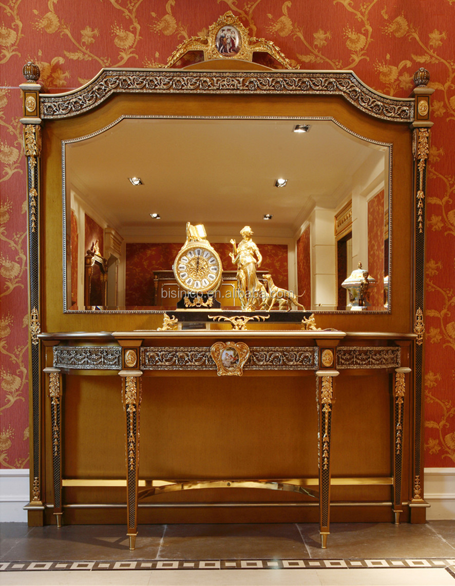Dining Room Console Cabinets Luxury French Louis Xv Style Golden Sideboard With Mirror