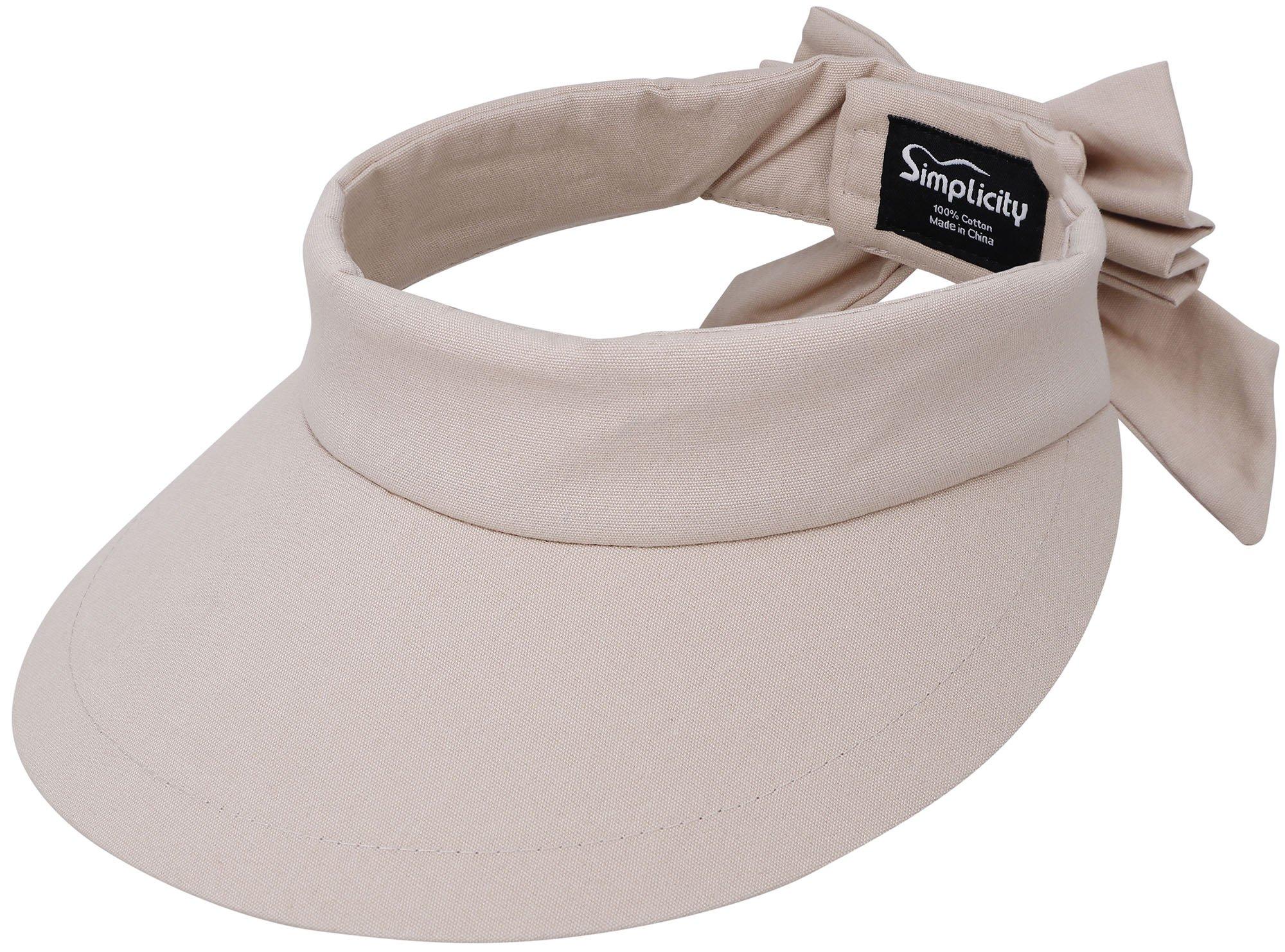 163bf62b Get Quotations · Simplicity Women's SPF 50+ UV Protection Wide Brim Beach  Sun Visor Hat