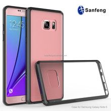 Guangzhou Manufacturer Drop Clear Cases For Samsung Galaxy Note 6 Wholesale Cellphone Case Covers With Acrylic TPU