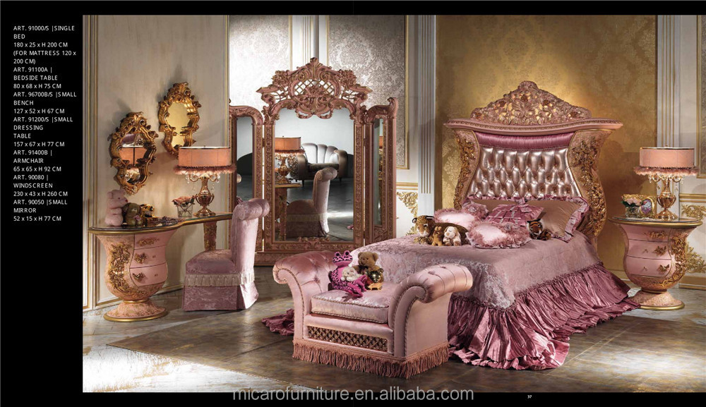 Luxury Romantic Wooden Carved Bed Room Furniture Bedroom Set Fairy ...