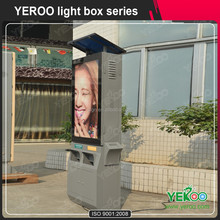 aluminum solar power advertising light box display
