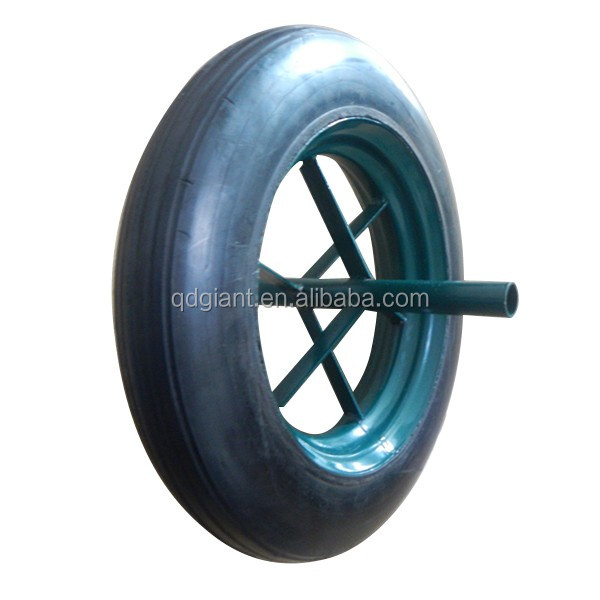 Solid rubber wheel for wheelbarrow 6400