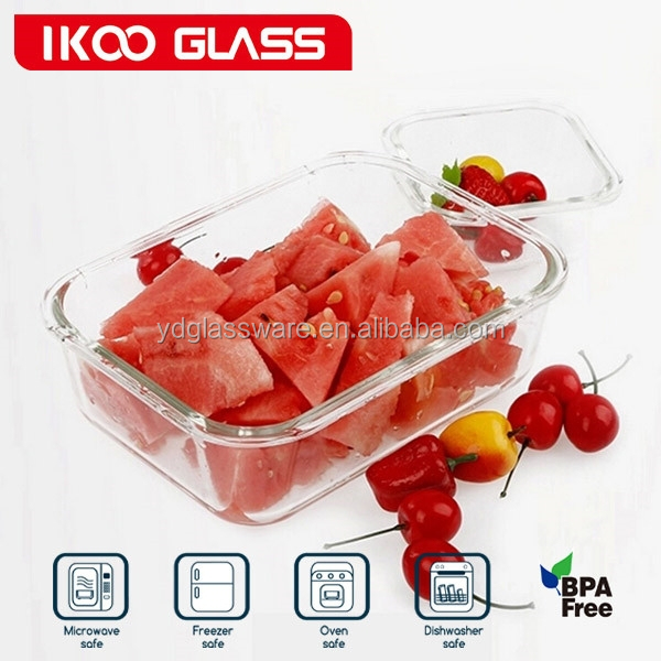 heat resistant airtight microwave glass vacuum lunch box