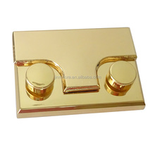 MTTL53 High Quality Alibaba Supplier Metal Pull Brass Button Flip Purse Turn Lock With Screw