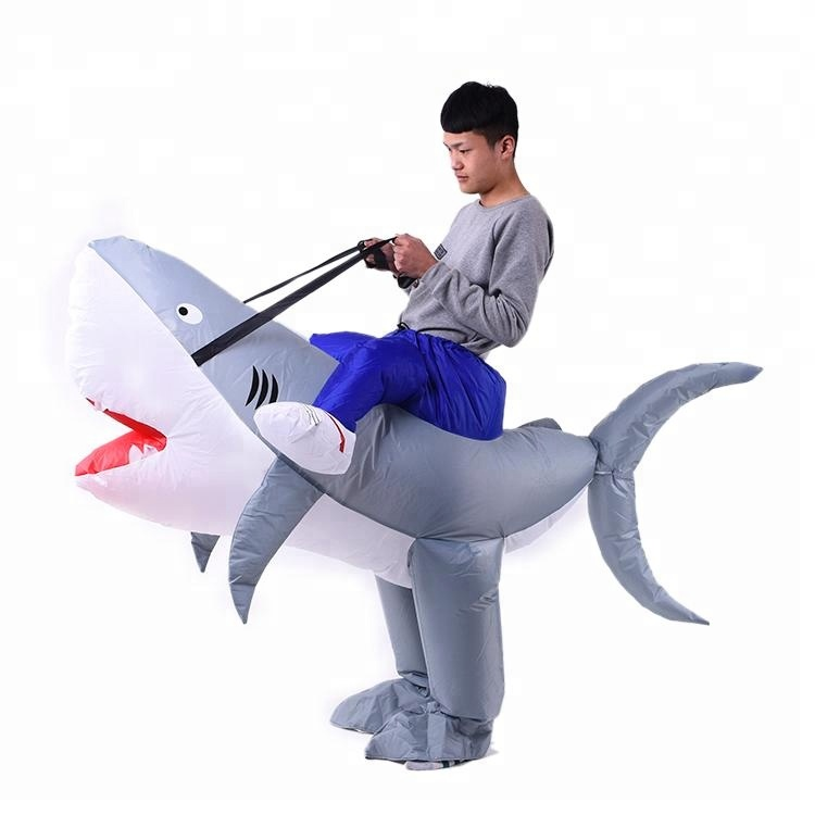 High quality new design customized shark Inflatable costume for kids