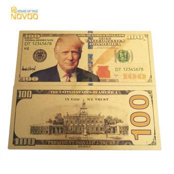 Trump Usd 100 Dollars Waterproof 24k Banknotes Plated 99 9 Pure Golden -  Buy Pure Gold Banknote,24k Gold Banknote Product on Alibaba com