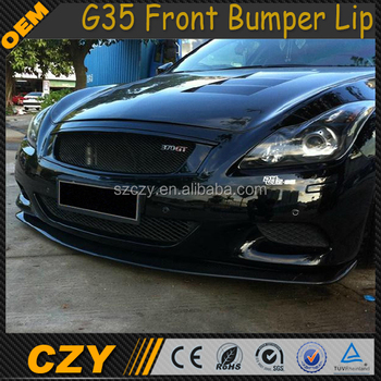 G Series Carbon G35 Front Bumper Lip for Infiniti G35 G37 09-13