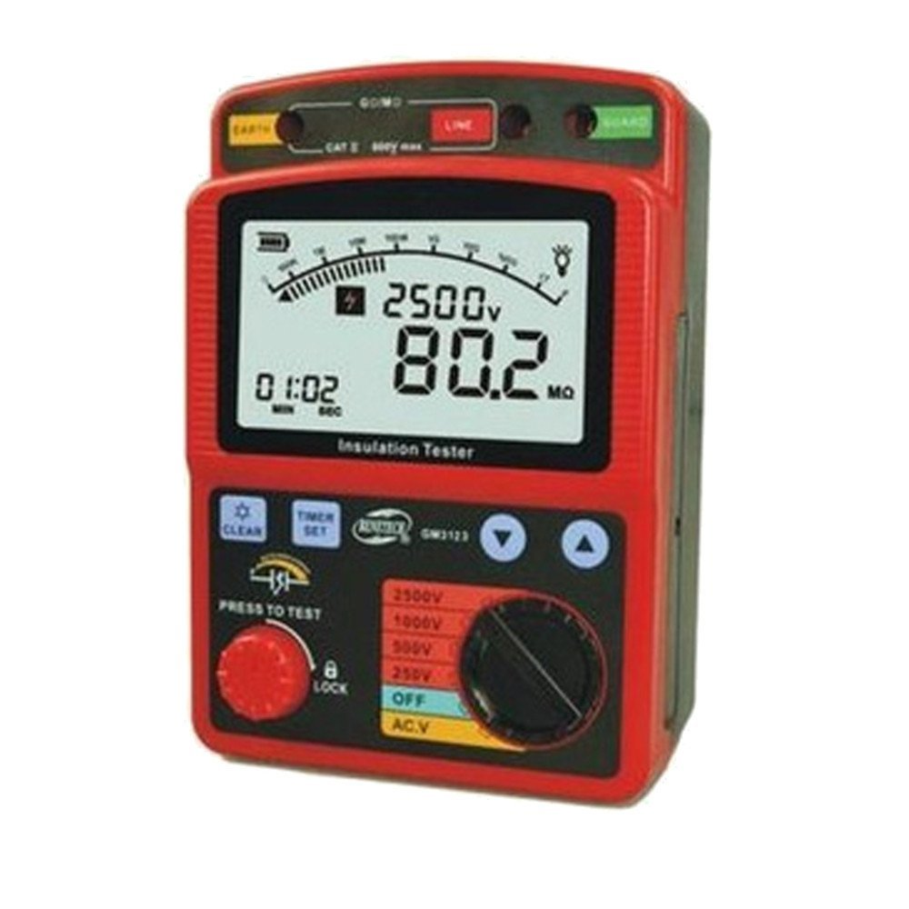 Tekit High voltage insulation tester Professional Earth Resistance Ground Resistance Ground AC Voltage Measurement Digital Earth Resistance Meter