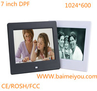 7 inch digital picture frame support music,picture,video ,