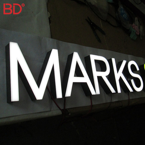 3D Shop Name Board Designs Acrylic Luminous Neon Signs Led small led light box letter led acrylic sign board for office