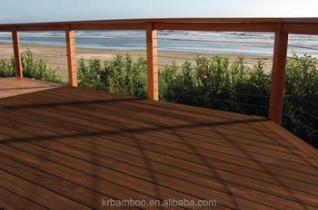 Bamboe Houten Vloer : Outdoor strand geweven bamboe terrasplanken anti termieten anti