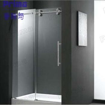 Economic Tempered Glass Steel Glass Fence Sliding Door Combination For  Housing Build Glass Shower Enclosure