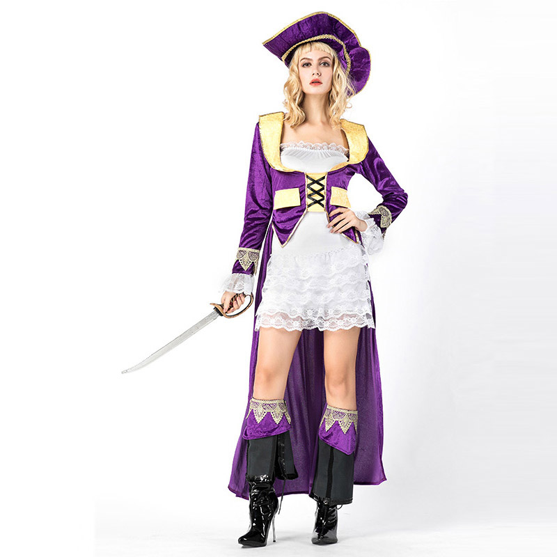 Halloween Cosplay Fancy Dress Adult Woman Sexy Pirate Party Costumes