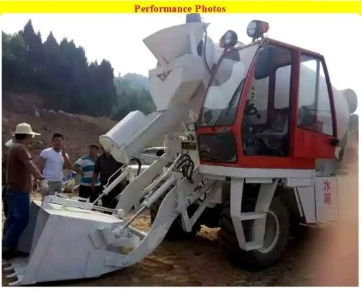 Mini portable concrete batch plant for sale high flexiblity and self loading concrete feeding mixer with truck in china factory