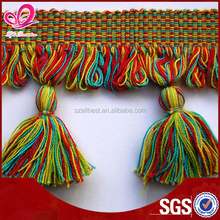 Small cotton tassel for bag decoration LF-T004 curtain tassel for sale