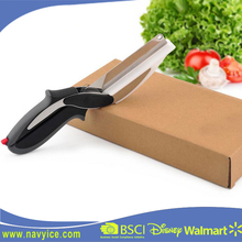 Household Kitchen 2-in-1 Food Chopper and Vegetable Slicer Kitchen Multi-fuction Scissors with Knife & Cutting Board